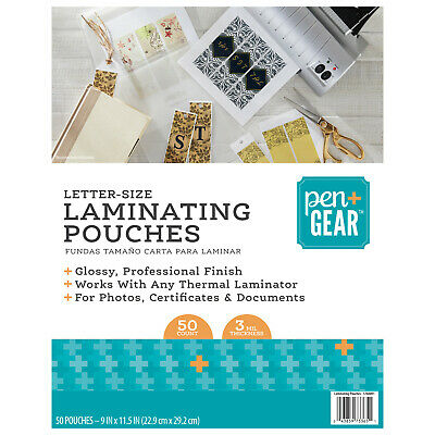 Fellowes Thermal Laminating Pouches//Sheets 2 Pack of 100 5743301 3 mil, Letter Size 9 x 11.5-Inches
