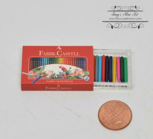 1:6 Dollhouse Miniature Artist Pastels Set// Miniature Painting B132