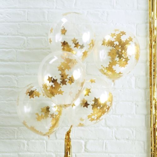Baby Shower Hen Noche Globos Confeti En forma de estrella de oro-lugar Deco Boda