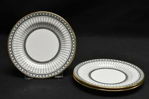 Wedgwood-Colonnade-Black-Set-of-3-Bread-amp-Butter-Plates