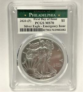 2020-P-1oz-American-Silver-Eagle-MS-70-PCGS-FDI-Philadelphia-Emergency-Issue