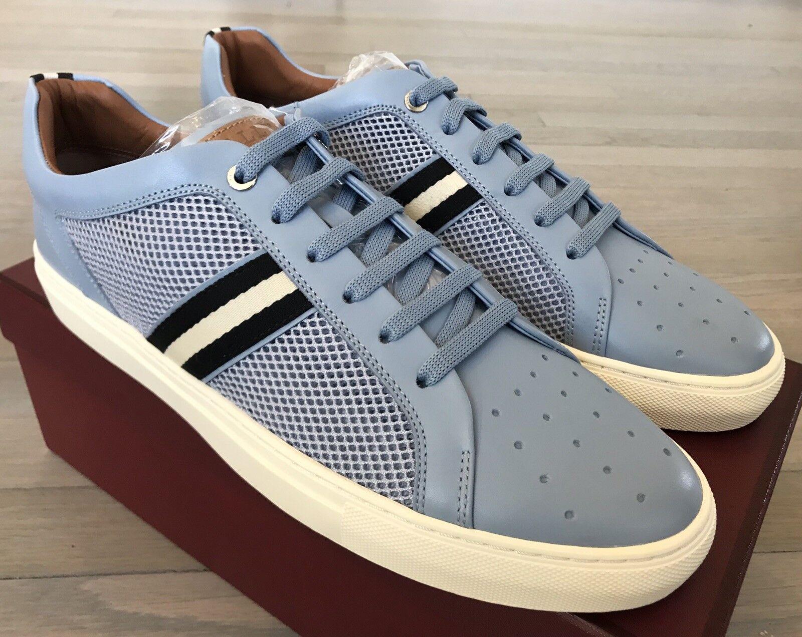 d6b99882716 550 Bally Herk Herk Herk Light bluee Leather and Nylon Sneakers size US 9  52df7e ...