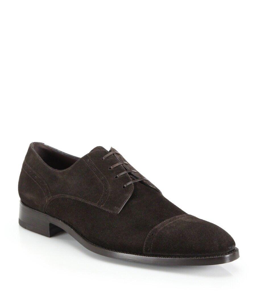 Brand New Eruomoegildo Zegna Lace-Up Brown Suede Oxfords Size 13EU(US 14) 5.00 Scarpe classiche da uomo