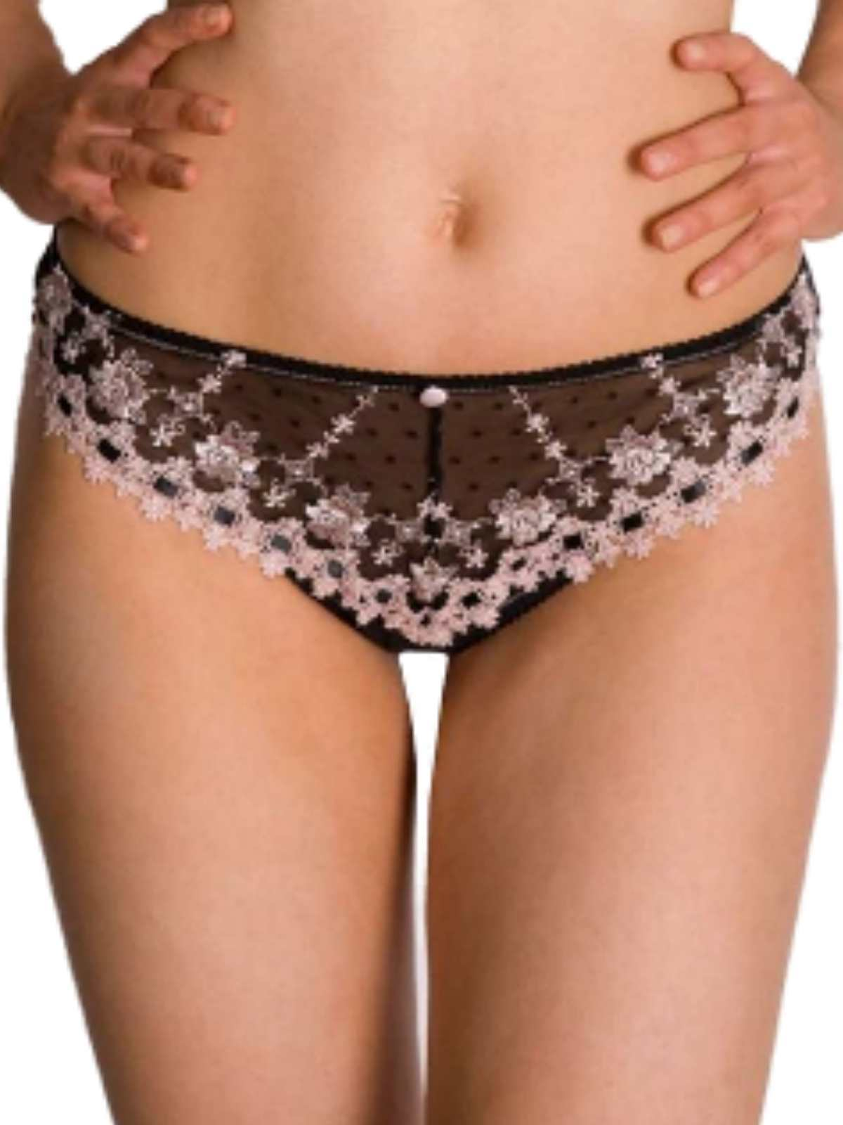 New Violet Purple Lace Tanga Thong UK 8 Ladies Sheer Knickers floral KEIA Ava