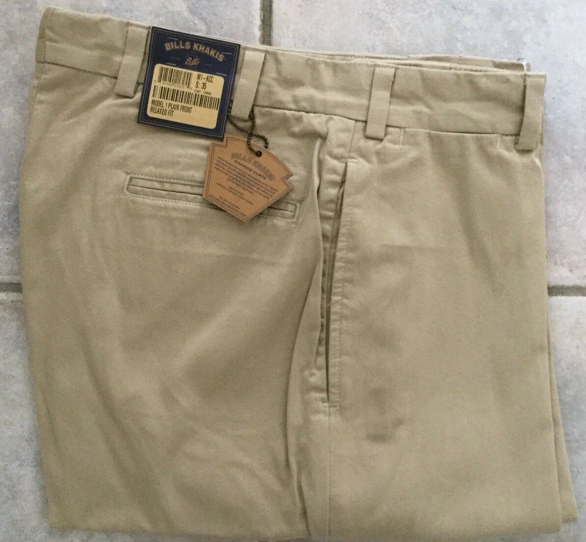 NWT-Bills khakis M1-KCC Size 33 PLain CHAMOIS CLOTH RELAX FIT KHAKI MSRP