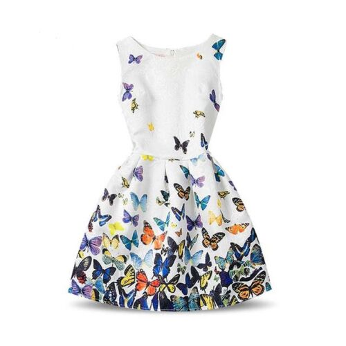 GIRLS BUTTERFLY DRESS SET OUTFIT SUMMER CLOTHING UK SELLER UNIQUE RARE