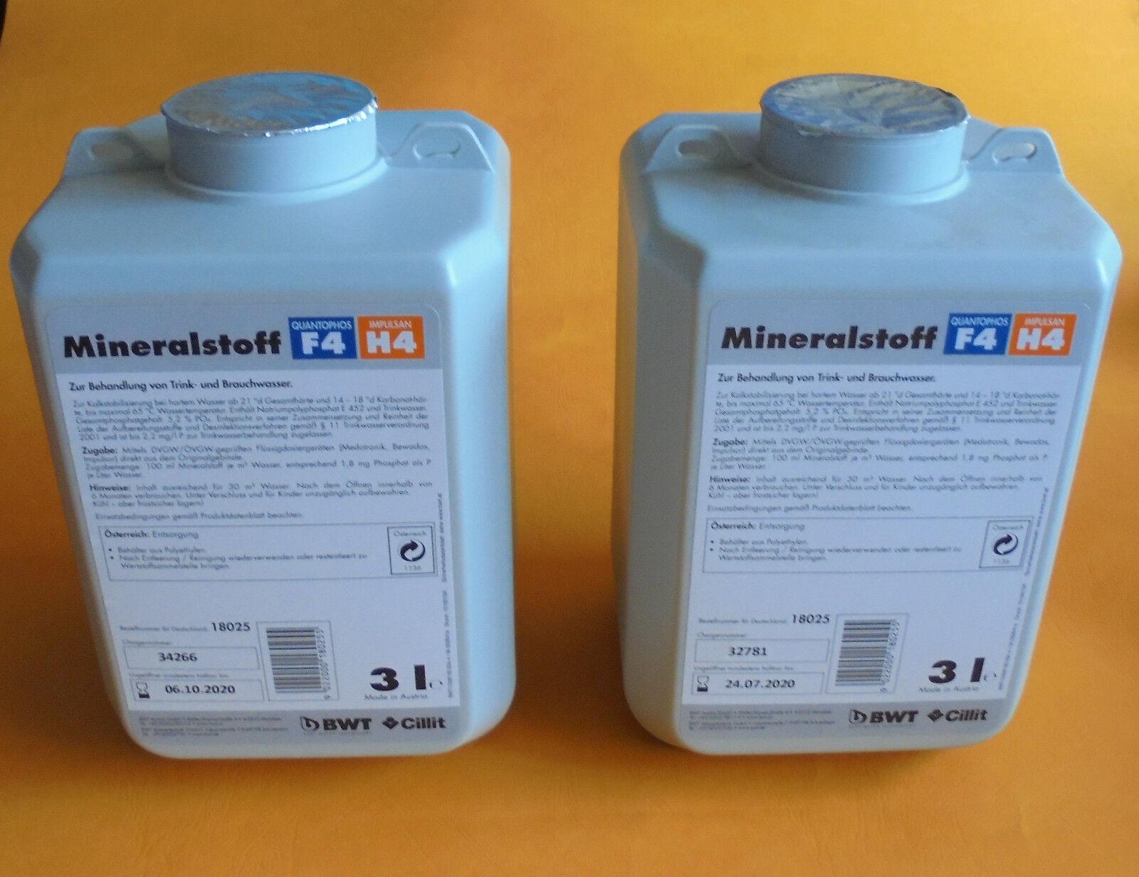 BWT 2 x 3 Liter Dosiermittel Quantophos Impulsan (6 Liter) F4/H4    18025