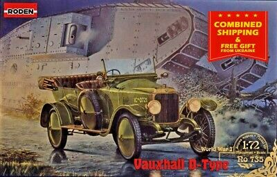 Neu Roden 717-1:72 Vauxhall D-type Red cross