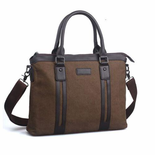 Briefcase Shoulder bags Canvas quality up leather Black Brown Vintage bags