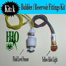 12v DC, Tank Float Switch, Yellow Idiot Light, HHO/ Bubbler/ Reservoir, Dry Cell