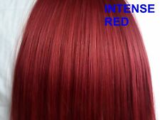 22 inch long clip in hair full head 8pc straight intense red hair extension