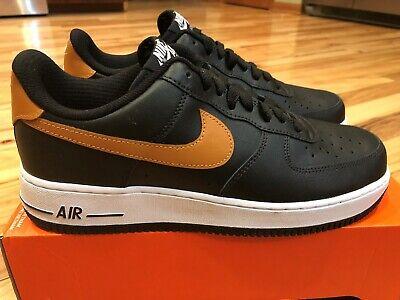 Nike By You Air Force 1 Low ID Black Tan AQ3774 992 Men's Size 9.5 400008070089 | eBay