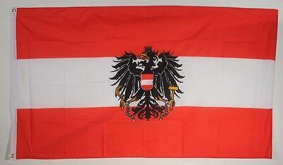Polen mit Wappen Flagge 250x 150 cm wetterfest Fahne Ösen Außen große Hissflagge