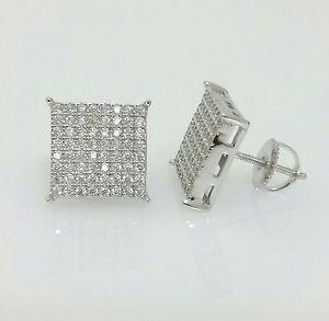 Image Is Loading Men 925 Sterling Silver Lab Diamond Flat Screen