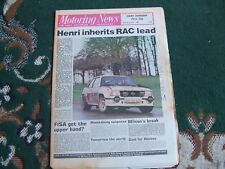 Motoring News 20 November 1980 RAC Rally Interim WCM Review Alfetta GTV