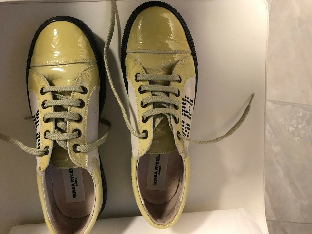 SONIA RYKIEL  Leather Sneaker Sport shoes SZ 38  US 8 NWB, MADE IN SPAIN