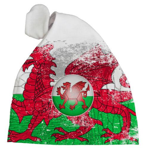 """Pays de Galles Bébé Football Chapeau /""""Allez DRAGONS/"""" Subli Imprimé chapeau Fan Cadeau"""
