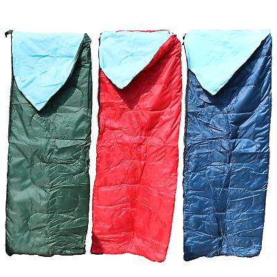 Sistematico Rosso/verde/blu Adulto 3 Stagione Busta Sacco A Pelo Campeggio Festival Estivo- Asciugare Senza Stirare