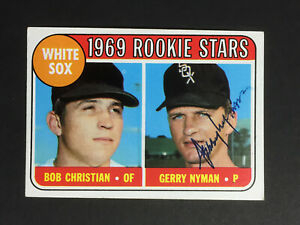Gerry Nyman White Sox Signed 1969 Topps Baseball Card #173 Auto Autograph