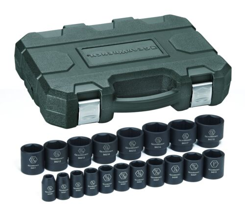"""Gearwrench 84932N 19 Piece 1//2/"""" Drive 6 Point Sae Impact Socket Set"""