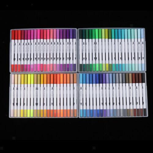 80 Farben Pinselstift Farbmarker Set Farbstifte Acrylstifte Marker Stifte