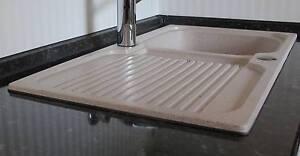Granit Spülbecken abdichten Küchen Einbauspüle weiß / Waschbecken ...