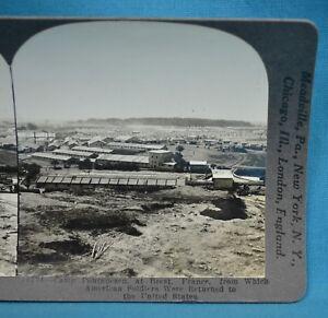 WW1-Stereoview-Photo-Camp-Pontanezen-Brest-France-Keystone
