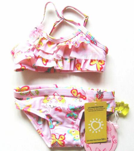 rosa bunt volants set baby sommer Bikini Butterfly Gr.86 Pampolina NEU UV 50
