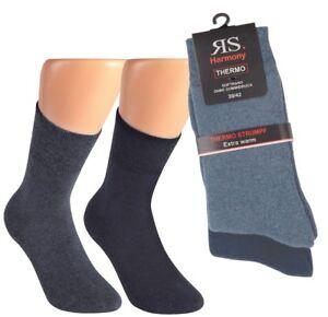 Großhandelspreis 2019 Großhändler suche nach original Details zu 2-10 Paar warme Winter THERMO Damen Socken Softrand Frottee  Baumwolle o. Gummi J