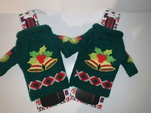 Details about 2 Ugly Christmas Sweater Wine Bottle Coozie Cover Bag Hostess Gag Gift Uncle Bob