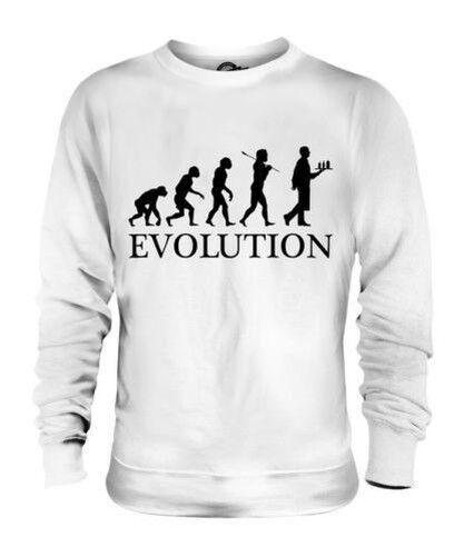 Mesero Evolution Of Man Unisex Suéter Regalo Hombre Mujer Camarera