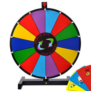 Upgraded-Editable-24-034-Color-Prize-Wheel-of-Fortune-Trade-Show-Tabletop-Spin-Game