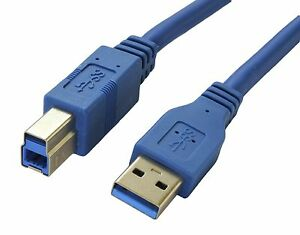 Wholesale Premium USB 3.0 A Male to Type B Male Cable Blue 3ft 6ft
