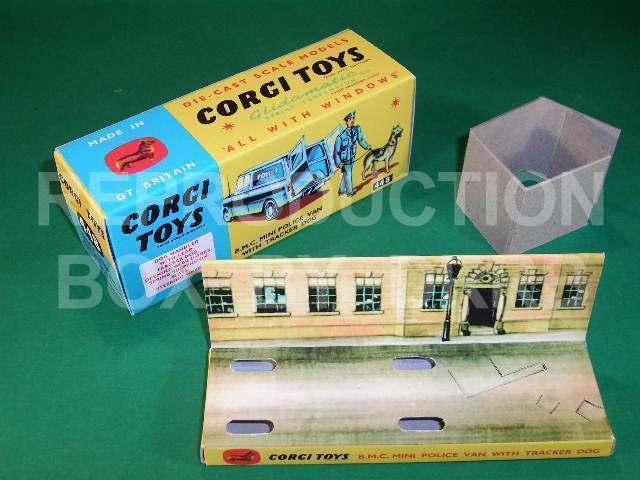 Corgi BMC Mini Police Dog Van (Scot. Yd. inner) - Reproduction Box by DRRB