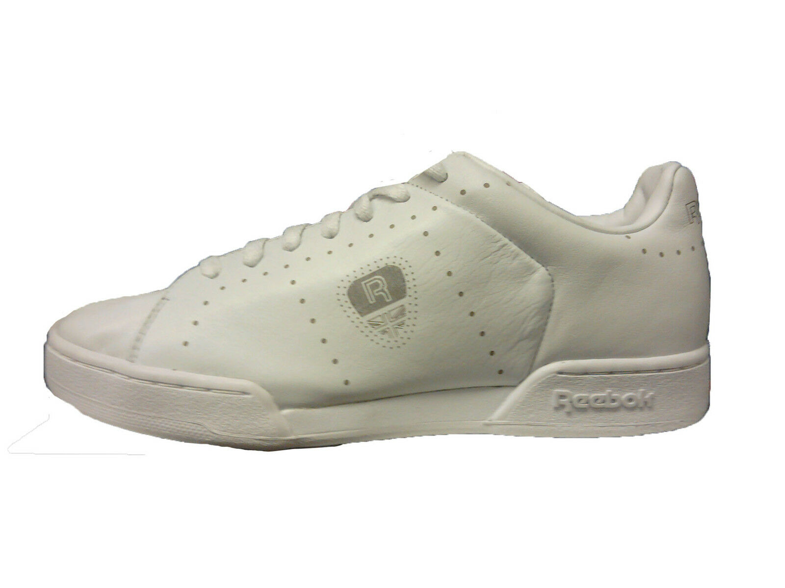 Reebok Uomo Shoe Npc ii Perf Perforated Classic White Tennis Shoe Sz 7.5 J19679