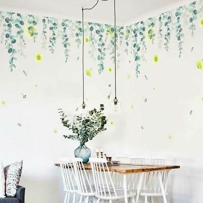 Greenery Foliage Leave Flower Wall Stickers Home Kids Nursery Decor Vinyl Decal
