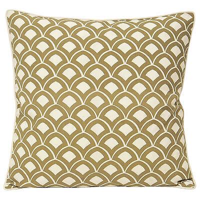 Paoletti Scallop Driftwood Natural White Cotton Square 50x50cm Cushion Cover