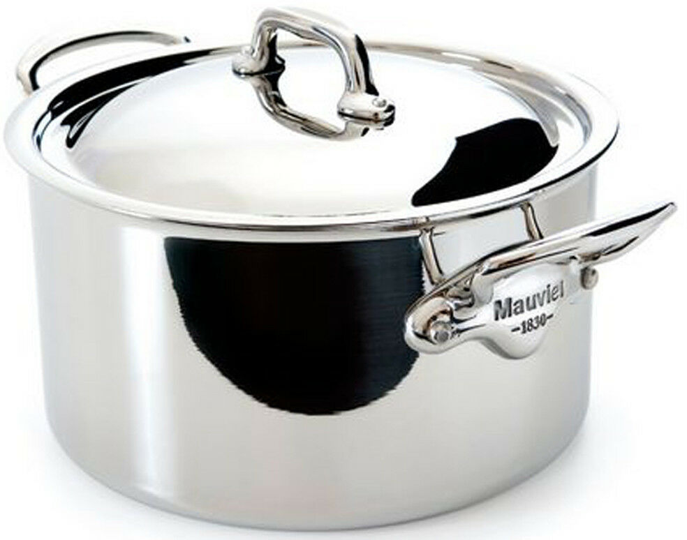 Mauviel M'cook 9.1 Qt Stew pot with Lid Cast Stainless Steel Handle 5231.29 NEW