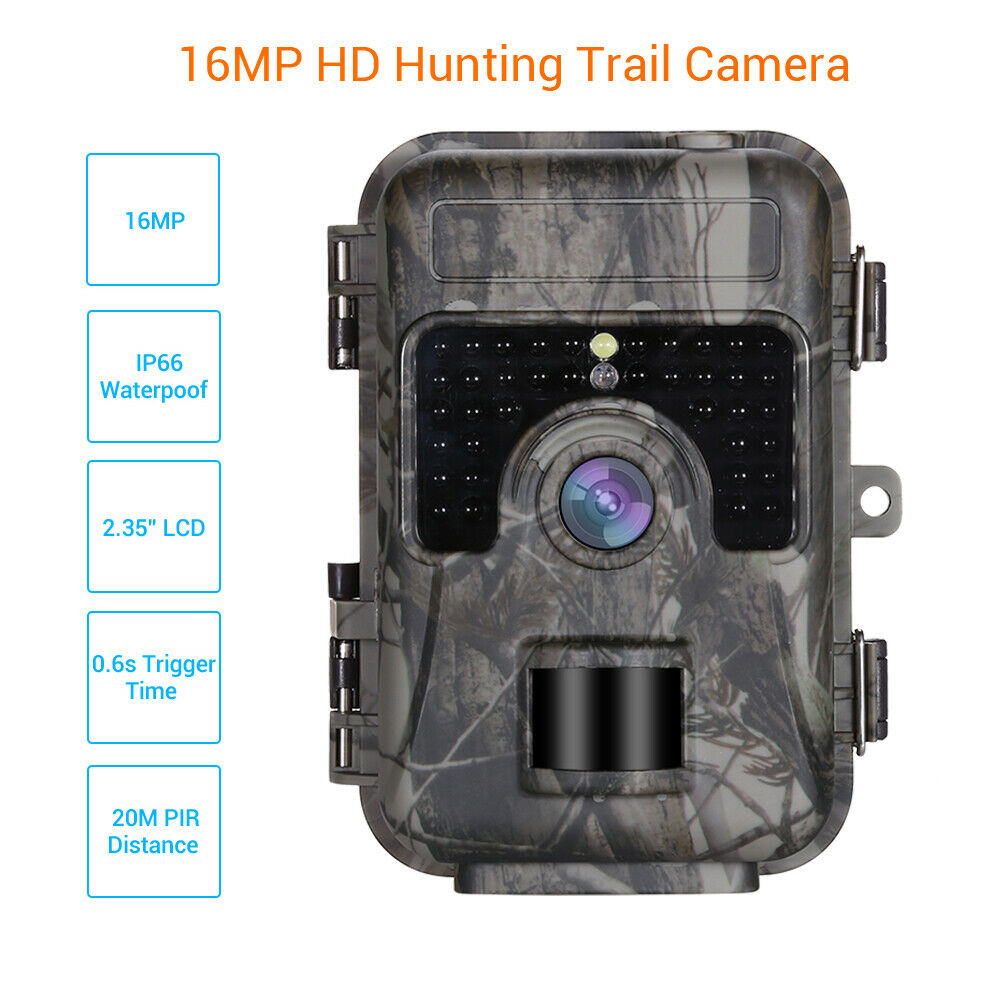 16MP Trail Kamera Spiel Wildlife Waterpoof Night Vsion Infrarot Motion Detection