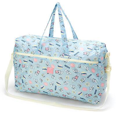 Cinnamoroll Folding 2WAY Zipper Boston Bag Carry On Blue ❤ Sanrio Japan Travel