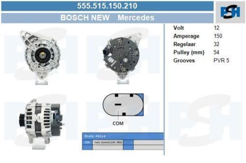 Alternateur Bosch 555.515.150.210