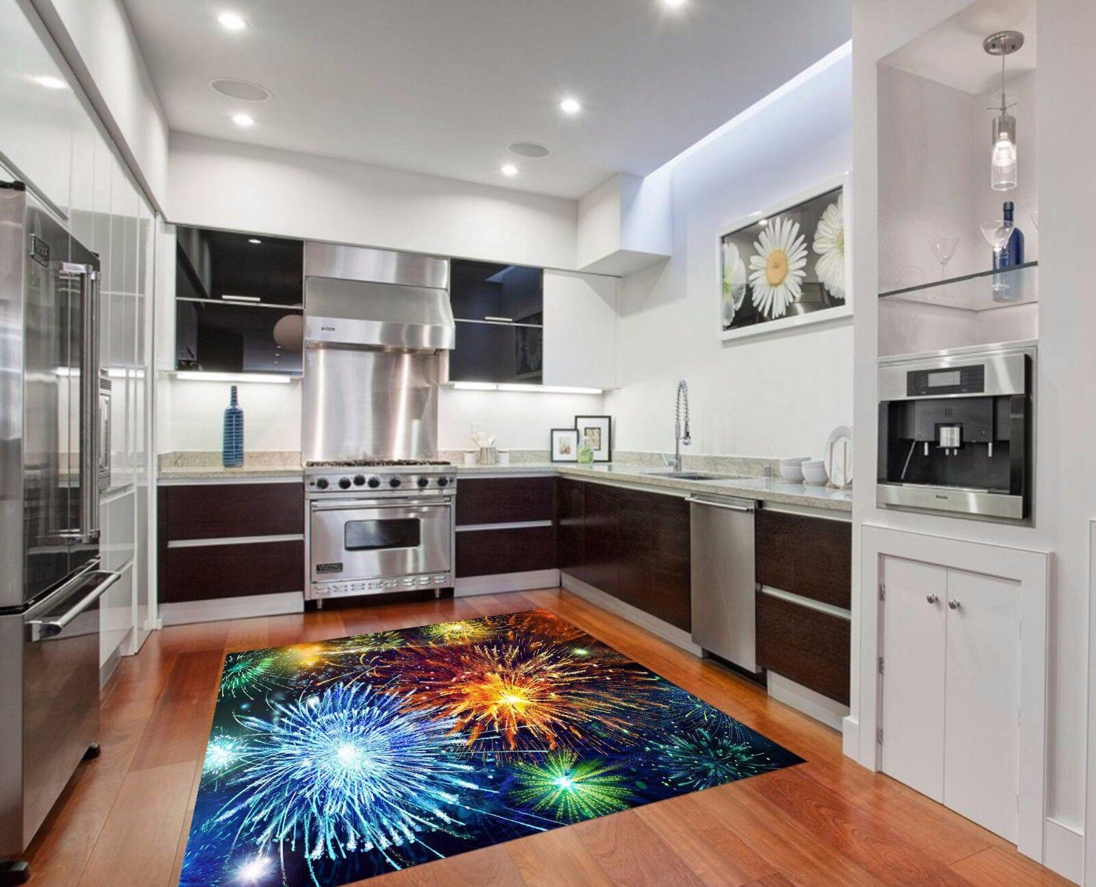 3D Sky Fireworks Kitchen Mat Floor Murals Wall Print Wall Deco AJ WALLPAPER AU