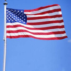 3x5-ft-Nylon-American-USA-Flag-Sewn-Stripes-PRINTED-Stars-Brass-Grommets-Sd
