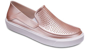 Crocs Womens CitiLane Roka Metallic Slip-Ons