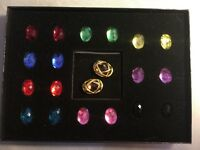 Joan Rivers Classic Collection Interchangeable 10 Color Checkerboard Earring Set