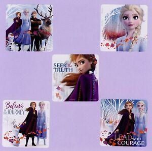 Birthday Favours Elsa//Anna//Olaf//Kristoff//Sven Frozen Shaped Stickers x 10