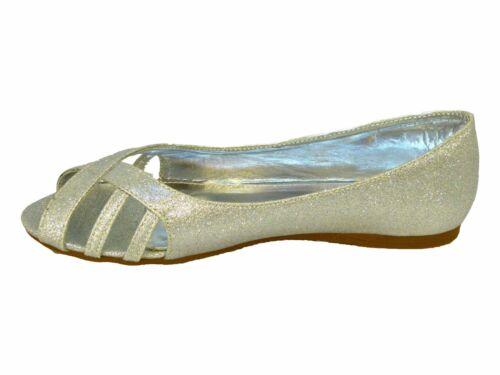 De D'honneur Chaussures Fête Demoiselle Plat Mariée Slip Dames Noces Confort qvYx8tnBw