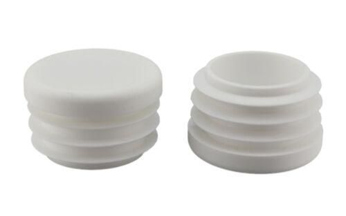 4 x Fussstopfen Ø 30mm weiß rund Rohrstopfen Fusskappen Gartenstuhl Tisch Hocker