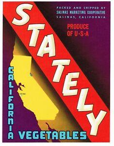 ORIGINAL 1950S SCARCE CRATE LABEL VINTAGE CALIFORNIA LANDSCAPE PETER J PETERS