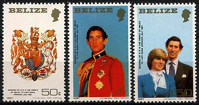 Latin America Stamps Professional Sale Belize 1981 Sg#614-616 Royal Wedding Mnh Small Size Set #d43281 Reasonable Price